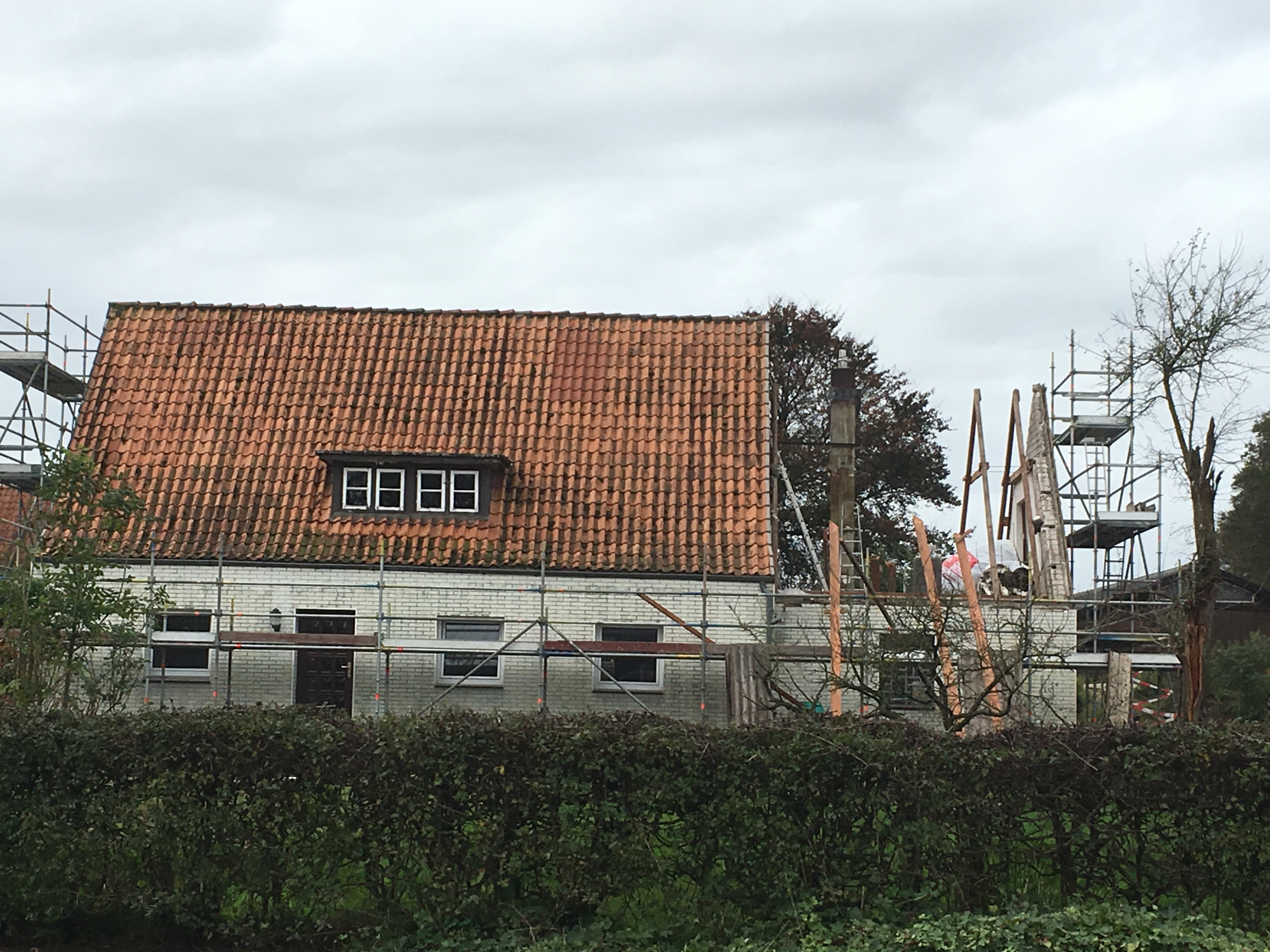 Erneuerung des Dachstuhls am Anbau